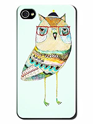Hand-made Super Cute Owl Hark Skin Protective Case Cover for Iphone 4/4S
