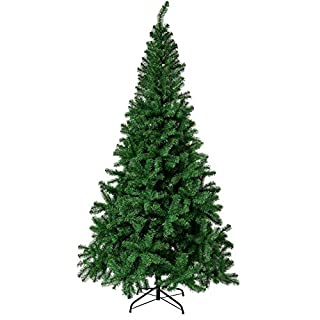 Sunnyglade 6 FT Premium Artificial 1000 Tips Full Easy to Assemble with Christmas Tree Stand (6ft), Green