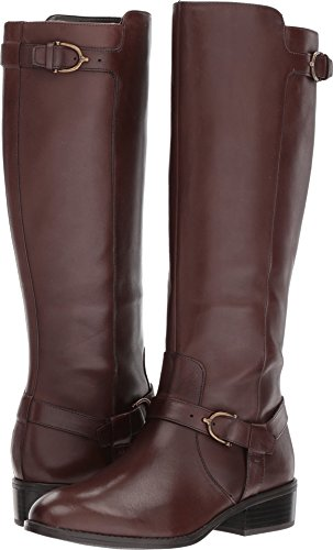 LAUREN Ralph Lauren Women's Margarite Dark Brown Burnished Calf 7.5 B US