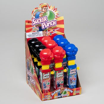 Price comparison product image SUCKER PUNCH CANDY LOLLIPOP IN 12 CT COUNTER DISPLAY 3 ASST, Case Pack of 144