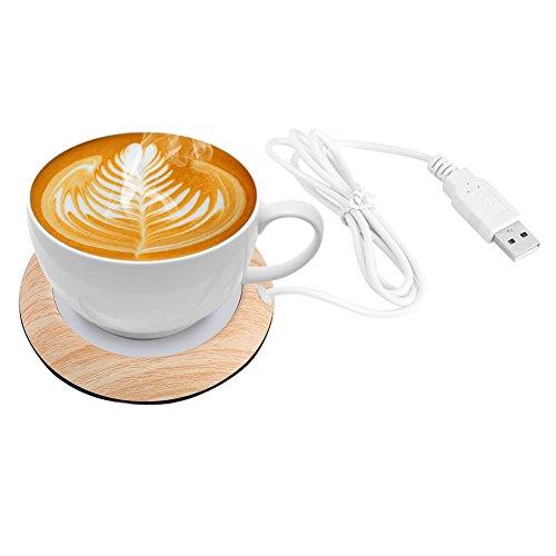 Portable Mug Warmer,Acogedor USB Cup Warmer,Coffee Warmer,Electric Cup Beverage Warmer for Water,Coffee,Tea (A)