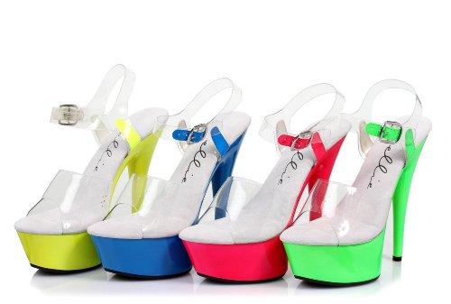 6 Neon Stilett Sandal Fuchsia