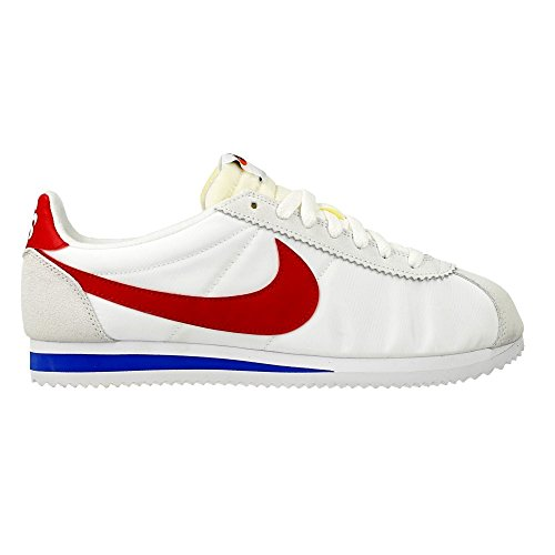 Nike Classic Cortez AW QS Nylon 847709-164 White/Varsity Red-Varsity Royal Shoes - Size Mens 8 US M 001gHJ