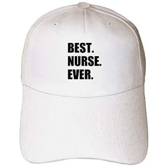 3dRose InspirationzStore Typography - Best Nurse Ever - worlds greatest nursing staff worker fun nurses day - Caps - Adult Baseball Cap