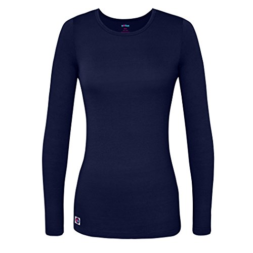 Sivvan Women's Comfort Long Sleeve T-Shirt/Underscrub Tee - S8500 - Navy - Medium