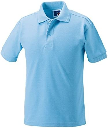 Russell Jerzees Kids Childrens Polycotton Polo Shirts Casual School Uniforms