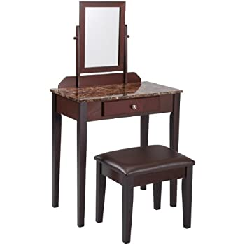 Amazon Com Frenchi Furniture Wood 3 Pc Vanity Set In