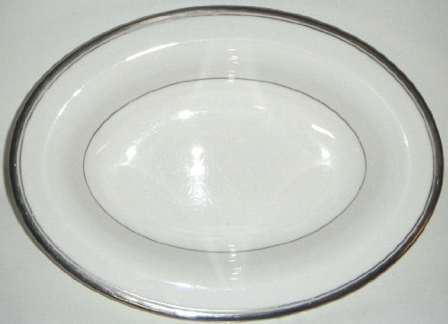 Royal Worcester Viceroy Platinum Oval Vegetable Bowl 10