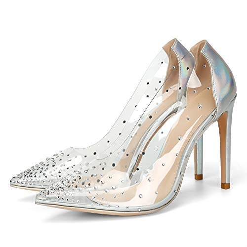 088b1882d0 Shoes : Shoes: Designer Shoes for Men, Women & Kids   Offeromwe VANDIMI Clear  High Heels for Women Stiletto Pointed Toe Pumps with Rhinestones Sexy Party  ...