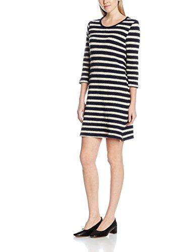 Navy Texture Damen Mehrfarbig Waffle Dash Kleid aqnwYxXBP