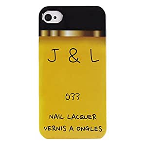 GJYYellow Nail Lacquer ABS Back Case for iPhone 4/4S