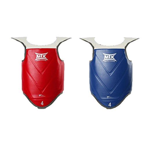 Mooto Korea Taekwondo MTX Chest Guards Protector Blue(1ea), Red(1ea) One Set WTF Approved MMA Martial Arts Karate…