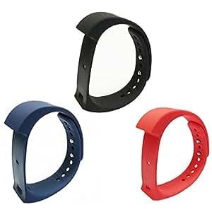 niceEshop(TM) 3 Piezas de Repuesto Originales IWown I5 Plus Correa, Negro Azul y Rojo