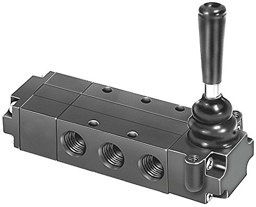 Manual Air Control Valve, 4-Way, 1/4In NPT by Parker