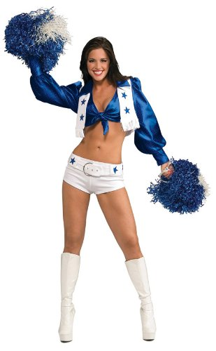 Secret Wishes Women's Dallas Cowboy Cheerleader Costume, White, Small