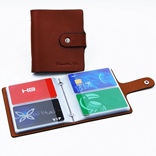 Ramble On Genuine Leather Business Card / Credit Card Holder - Compact Storage - Holds up to 80 Business Cards or 40 Credit Cards - for All your Important Cards - Comes in a Great Gift Box (Brown) Photo #2
