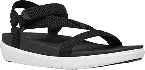 FitFlop Women's Z-Strap Slide Sandal, Black, 5 M US by FitFlop