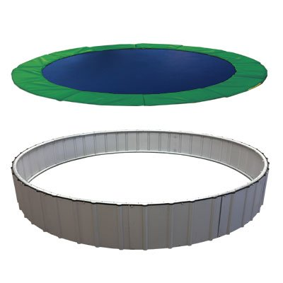 In-Ground Trampolines Stainless Steel Upgrade (Green, 15')