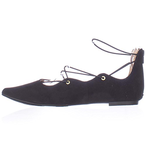 Material Girl Womens ibby Pointed Toe Ballet Flats Black lEwCvX8
