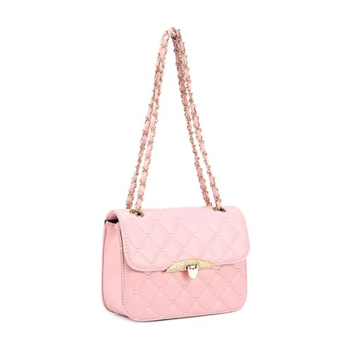 Donalworld Quilted Crossbody Purse Chain Strap Shoulder Bag Travel Wallet ()