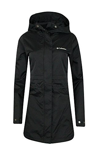 COLUMBIA WOMENS Shine Struck II Waterproof RAIN Mid Hooded JACKET 2017 (L, Black)