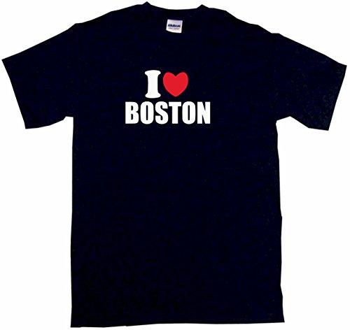 Boston Tee Sleeveless Mens (I Heart Love Boston Men's Tee Shirt Large-Black)