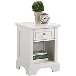Home Styles 5530-42 Naples Night Stand, White Finish