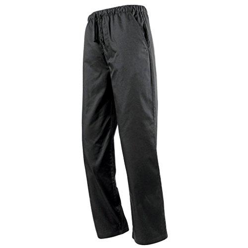 Cuisine Service Noir Flameer Unisexe Pantalons Alimentaire Travail Vêtements Bas Chef De Typea Du Uniforme WqqOfpXR