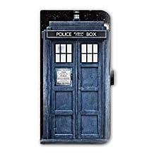 Leather flip case Samsung Galaxy Grand Prime Doctor Who - - tardis black -