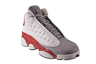 quality design 81511 eacdc Amazon.com  Jordan Air 13 Retro Grey Toe BG Big Kids Shoes White Black-True  Red-Cement Grey 414574-126  Shoes