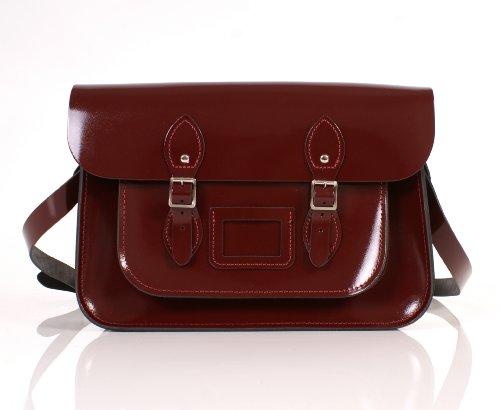 Oxbridge Satchel's, Borsa a secchiello donna Rosso rosso
