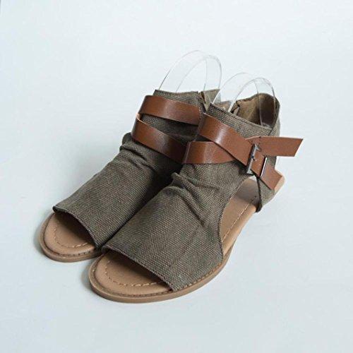 Pescado De Sandalias De OHQ De Boca Planas Mujeres Mujer Zapatos para Caf tqXn0X8w