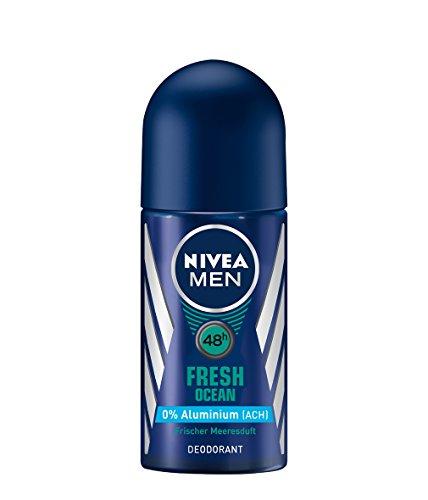 Nivea Men Deo Fresh Ocean Deoroller, ohne Aluminium, 6er Pack (6 x 50ml)
