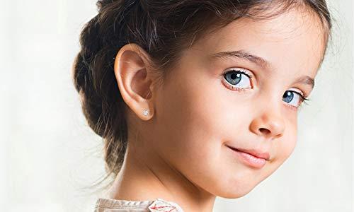 Solid 10K Yellow, White or Rose Gold 3mm Round Genuine Gemstone Birthstone Stud Earrings