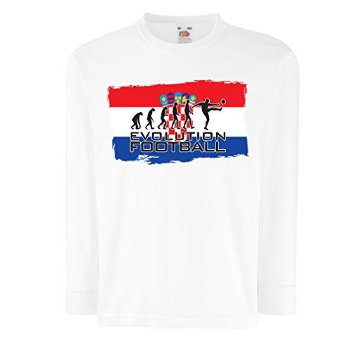 (Kids Boys/Girls T-Shirt The Croatia National Football Team Evolution, 2018 World Cup Russia (12-13 Years White Multi)