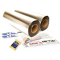 GTMAT 100 sqft Automotive Sound Deadening 80mil ULTRA – Acoustic Dampening Installation Kit Includes: 100sqft 2-Rolls (18 x 33.3'), Instruction Sheet, Application Roller, Degreaser, GT MAT Decals