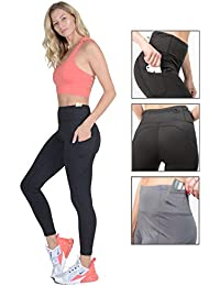 High Waisted Leggings with Pockets: Yoga Pants for Women, Workout Clothes for Running Sports Exercise Fitness...