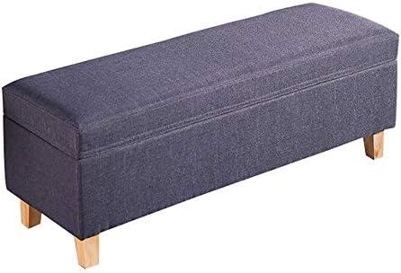 足置き 踏み台 オスマンフットレストスツールシートフットレスト靴収納オーガナイザー多彩な省スペースのベンチ(グレー) 玄関/寝室適用 (Color : Gray, Size : 100x40x41cm)