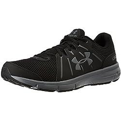 Under Armour Men's Dash RN 2 Running Shoes, Black/Rhino Gray, 13 D(M) US