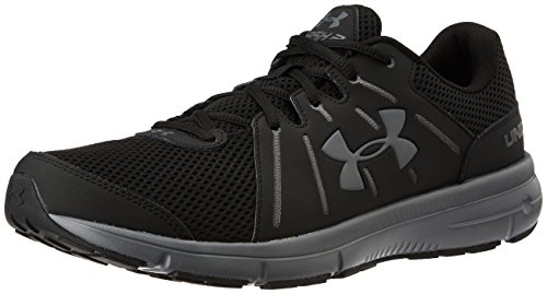Under Armour Men's Dash 2, Black/Rhino Gray/Rhino Gray, 10 D(M) US