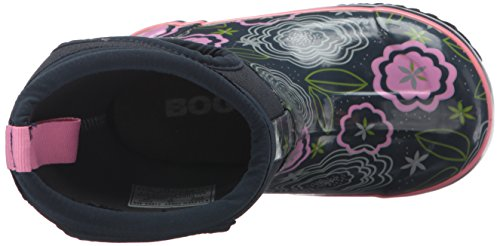 Bogs Classic High Waterproof Insulated Rubber Neoprene Rain Boot Snow, Posey Print/Dark Blue/Multi, 3 M US Little Kid by Bogs (Image #8)