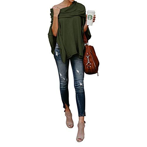 Hiver Lache Tunique Taille Printemps T Femme lgant Tops Juqilu Casual Tops Grande Shirt Chic Sexy Irrgulier 5 S Poncho Hauts Basique Ourlet 2XL Automne nUU0Wxr