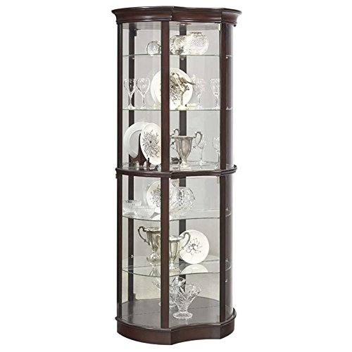 Pulaski P021563 Sable Concave Front Mirrored Curio Cabinet 32.0'' x 15.4'' x 76.1'' by Pulaski
