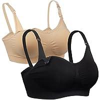 iLoveSIA Womens Seamless Nursing Bra Sleep Maternity Bralette Pack of 2