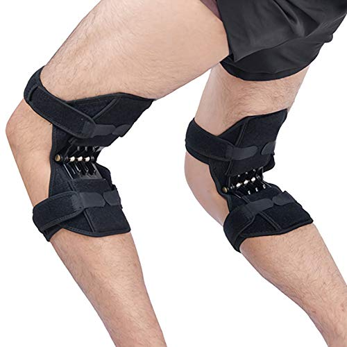 Joint Support Knee Pads Knee Patella Strap Non-Slip Power Knee Stabilizer Pads Lift Spring Force...