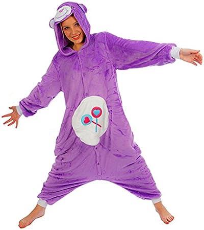 Unisexe Care Bears Cheer Bear Love Bear Share Bear Lucky Bear Bedtime Bear Onesie D/éguisement Pyjama Cosplay F/ête Tenue Sweat /à Capuche Costume Cadeau de No/ël Bedtime Bear, S Height 150cm-160cm