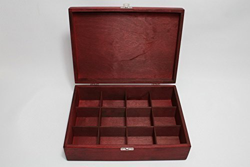 Amazoncom 12 Compartments Wooden Tea Box Red Box Wooden
