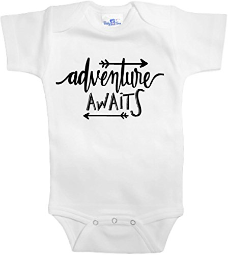 Baby Tee Time Adventure Awaits One Piece 0-3 Months White (One Piece Replica)