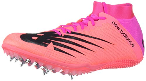 New Balance Women's 100v3 Track and Field Shoe, Guava/Peony, 8 B US