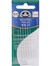 DMC 1764-10/12 Beading Hand Needles, 6-Pack, Size 10/12